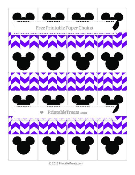 Free Indigo Herringbone Pattern Mickey Mouse Paper Chains