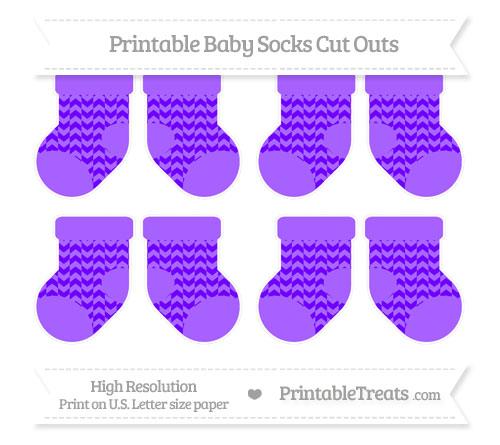 Free Indigo Herringbone Pattern Small Baby Socks Cut Outs