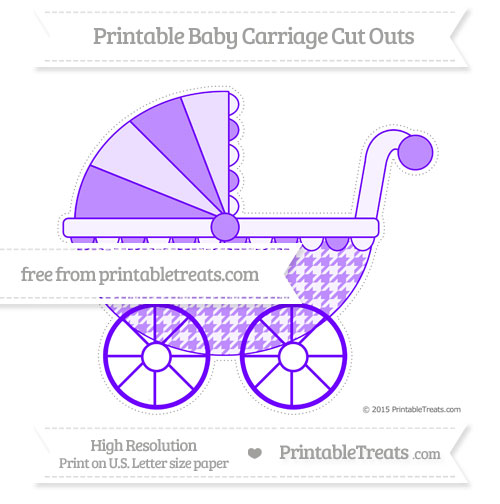 Free Indigo  Houndstooth Pattern Extra Large Baby Carriage Cut Outs