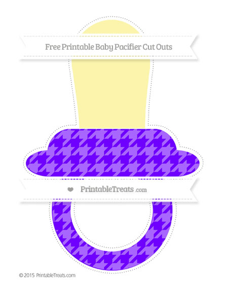 Free Indigo  Houndstooth Pattern Extra Large Baby Pacifier Cut Outs