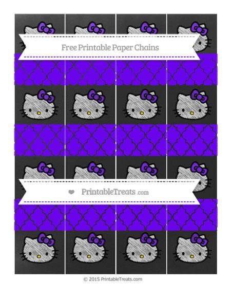 Free Indigo Moroccan Tile Chalk Style Hello Kitty Paper Chains