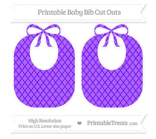 Free Indigo Moroccan Tile Large Baby Bib Cut Outs