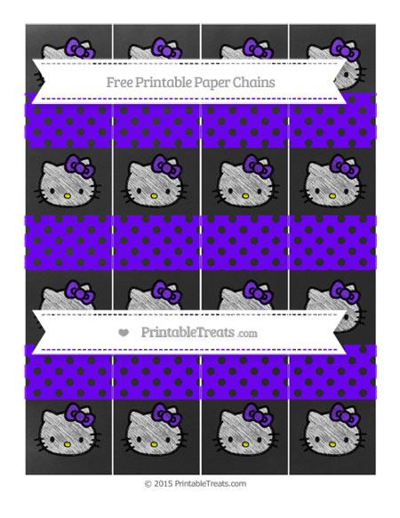 Free Indigo Polka Dot Chalk Style Hello Kitty Paper Chains
