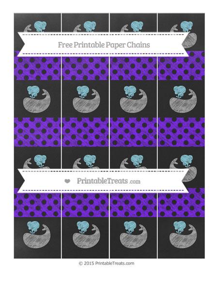 Free Indigo Polka Dot Chalk Style Whale Paper Chains