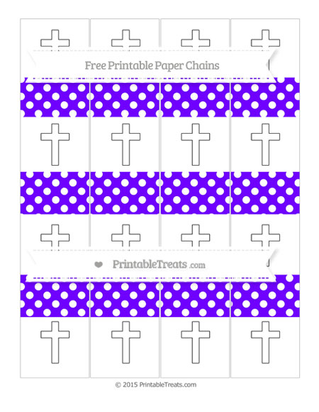 Free Indigo Polka Dot Cross Paper Chains