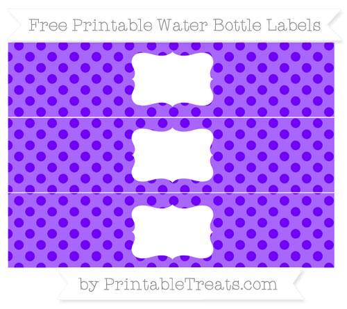 Free Indigo Polka Dot Water Bottle Labels