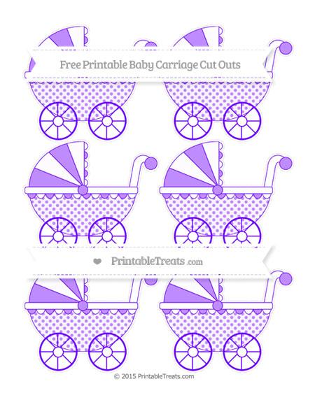 Free Indigo Polka Dot Small Baby Carriage Cut Outs