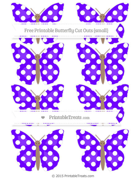 Free Indigo Polka Dot Small Butterfly Cut Outs
