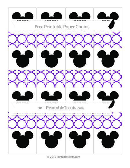 Free Indigo Quatrefoil Pattern Mickey Mouse Paper Chains
