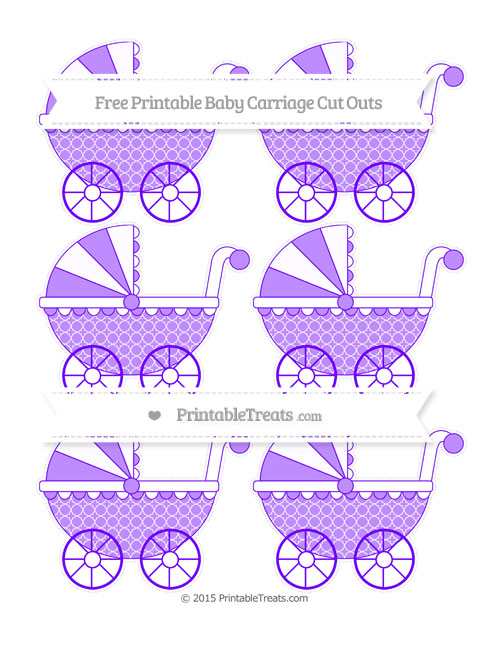 Free Indigo Quatrefoil Pattern Small Baby Carriage Cut Outs