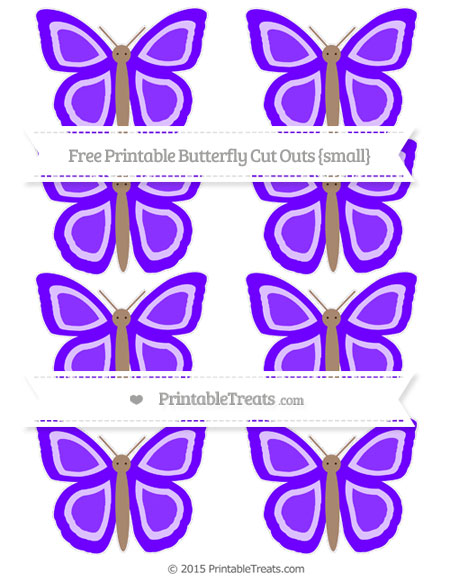Free Indigo Small Butterfly Cut Outs