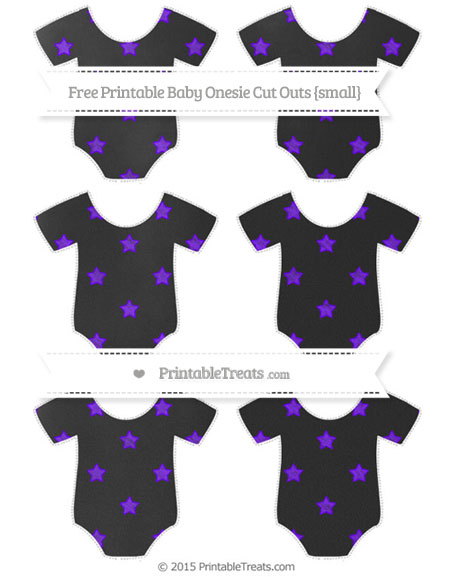 Free Indigo Star Pattern Chalk Style Small Baby Onesie Cut Outs