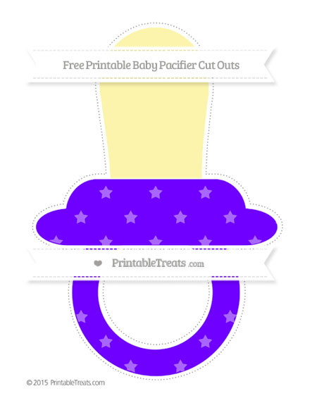 Free Indigo Star Pattern Extra Large Baby Pacifier Cut Outs