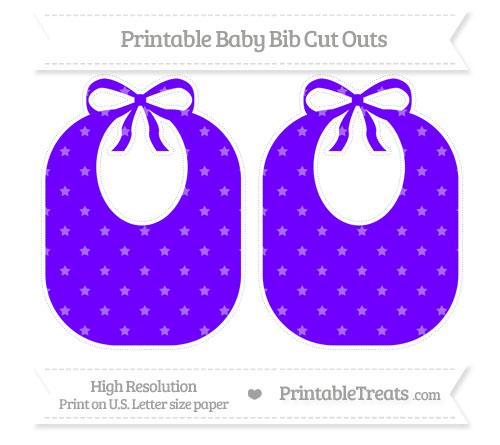 Free Indigo Star Pattern Large Baby Bib Cut Outs