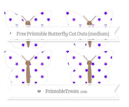 Free Indigo Star Pattern Medium Butterfly Cut Outs