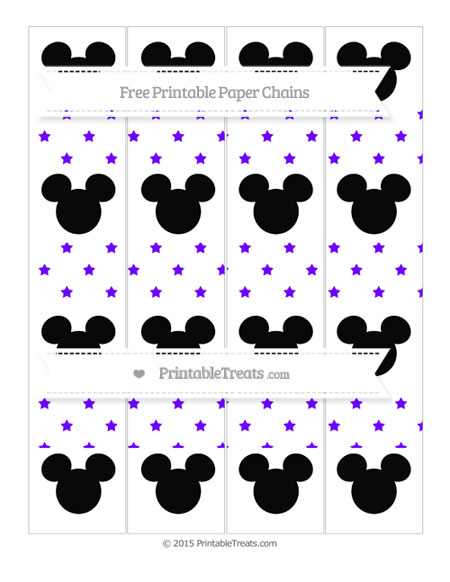 Free Indigo Star Pattern Mickey Mouse Paper Chains
