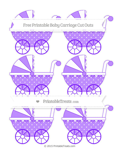 Free Indigo Star Pattern Small Baby Carriage Cut Outs