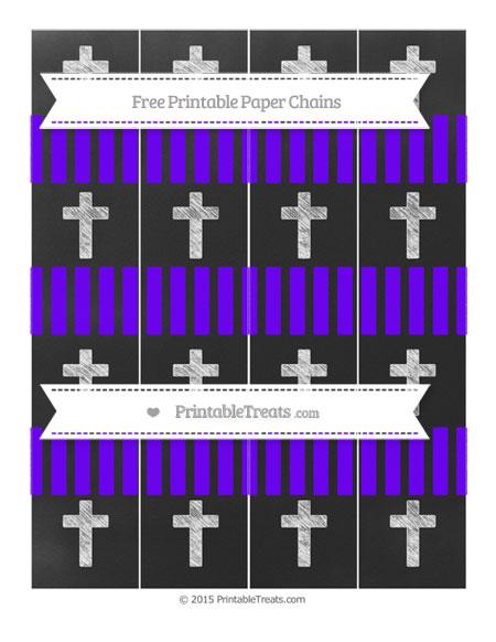 Free Indigo Striped Chalk Style Cross Paper Chains