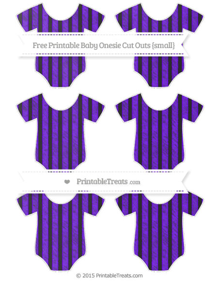 Free Indigo Striped Chalk Style Small Baby Onesie Cut Outs