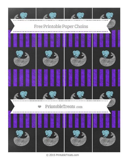 Free Indigo Striped Chalk Style Whale Paper Chains