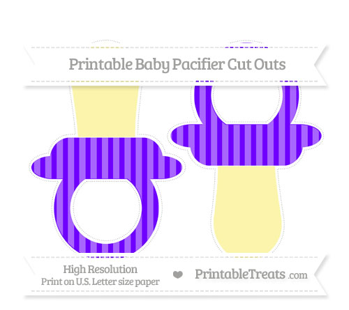 Free Indigo Striped Large Baby Pacifier Cut Outs