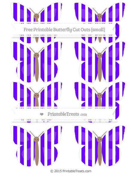 Free Indigo Striped Small Butterfly Cut Outs