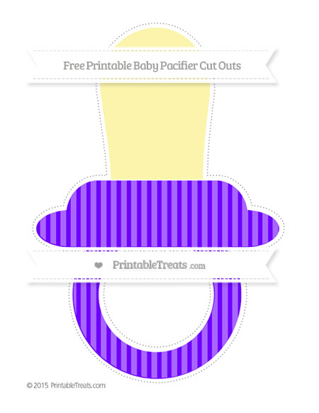 Free Indigo Thin Striped Pattern Extra Large Baby Pacifier Cut Outs