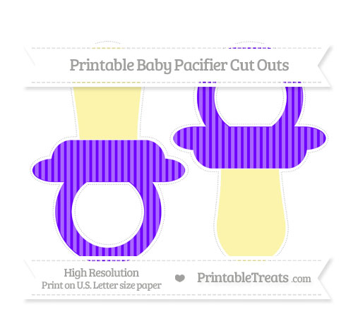 Free Indigo Thin Striped Pattern Large Baby Pacifier Cut Outs