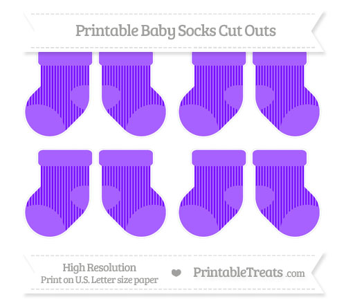 Free Indigo Thin Striped Pattern Small Baby Socks Cut Outs