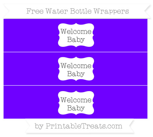 Free Indigo Welcome Baby Water Bottle Wrappers