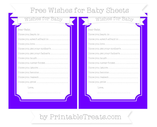 Free Indigo Wishes for Baby Sheets