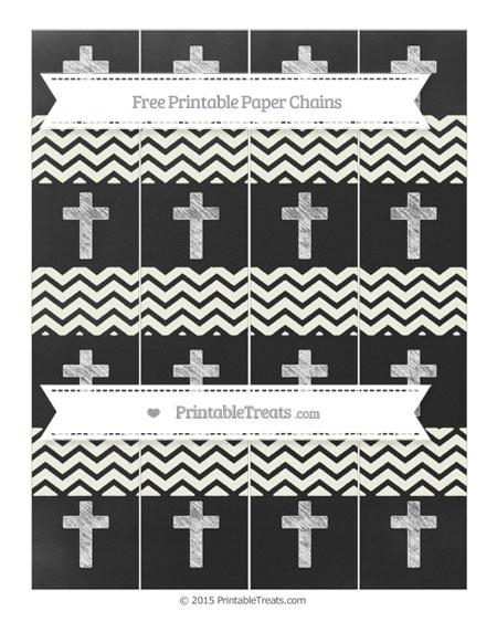 Free Ivory Chevron Chalk Style Cross Paper Chains