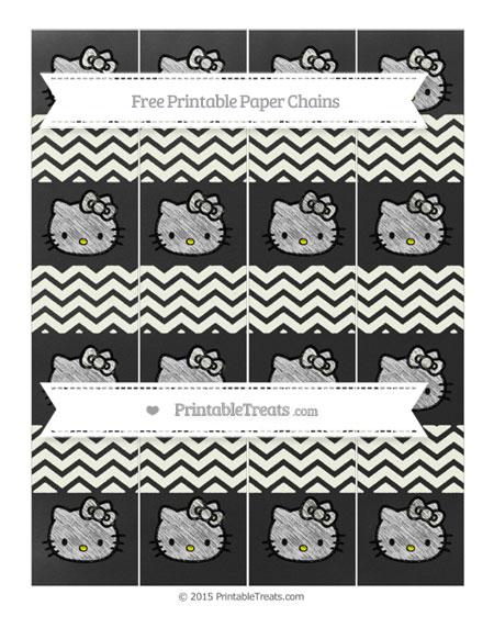 Free Ivory Chevron Chalk Style Hello Kitty Paper Chains