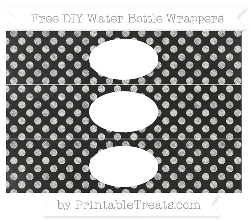 Free Ivory Dotted Pattern Chalk Style DIY Water Bottle Wrappers