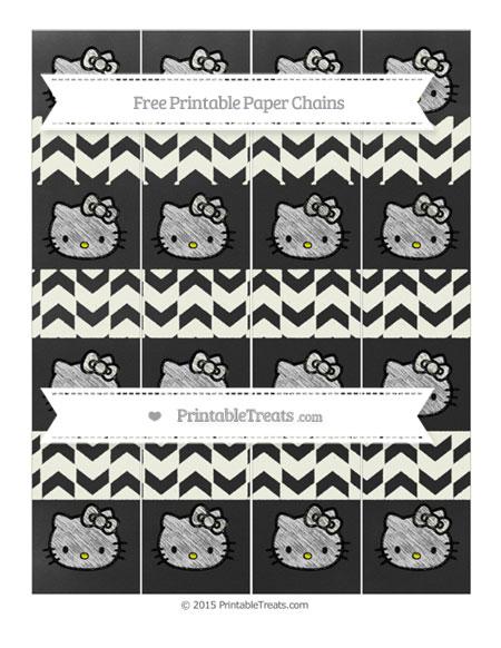 Free Ivory Herringbone Pattern Chalk Style Hello Kitty Paper Chains