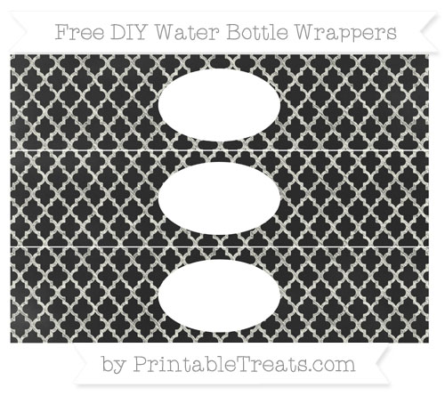 Free Ivory Moroccan Tile Chalk Style DIY Water Bottle Wrappers