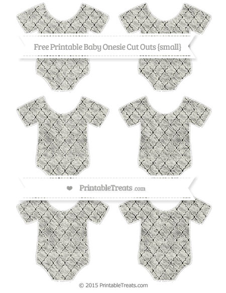 Free Ivory Moroccan Tile Chalk Style Small Baby Onesie Cut Outs