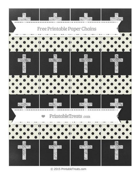 Free Ivory Polka Dot Chalk Style Cross Paper Chains