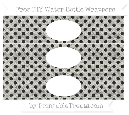 Free Ivory Polka Dot Chalk Style DIY Water Bottle Wrappers