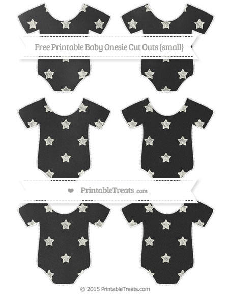 Free Ivory Star Pattern Chalk Style Small Baby Onesie Cut Outs