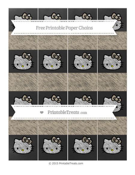 Free Khaki Chalk Style Hello Kitty Paper Chains