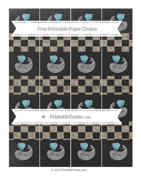 Free Khaki Checker Pattern Chalk Style Whale Paper Chains