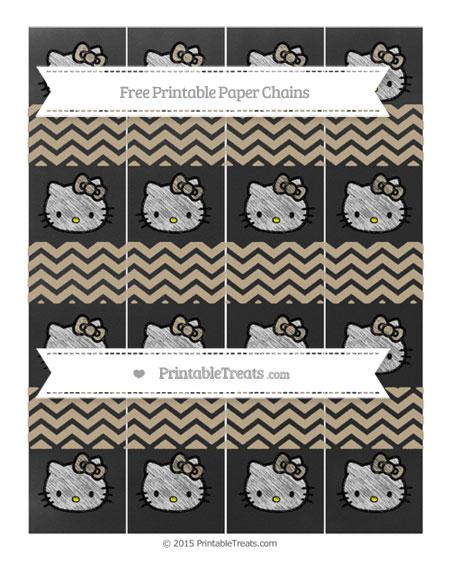 Free Khaki Chevron Chalk Style Hello Kitty Paper Chains