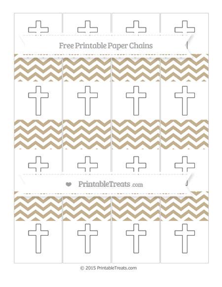 Free Khaki Chevron Cross Paper Chains