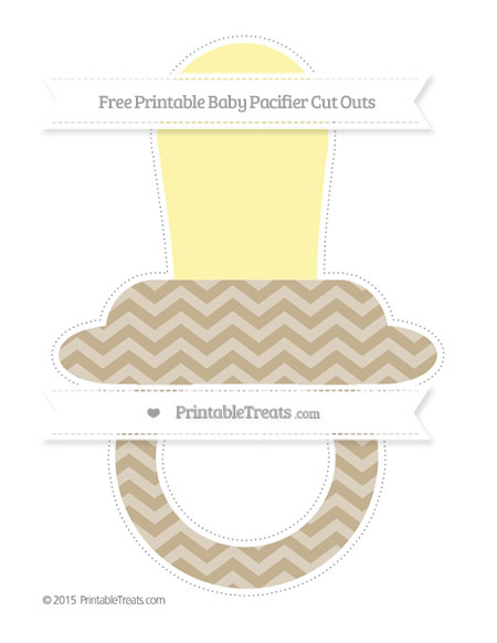 Free Khaki Chevron Extra Large Baby Pacifier Cut Outs