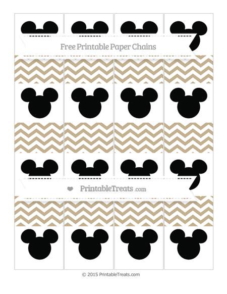 Free Khaki Chevron Mickey Mouse Paper Chains