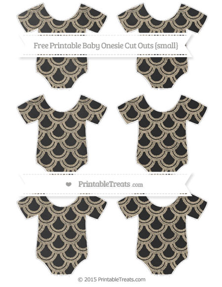 Free Khaki Fish Scale Pattern Chalk Style Small Baby Onesie Cut Outs