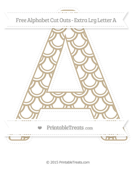 Free Khaki Fish Scale Pattern Extra Large Capital Letter A Cut Outs