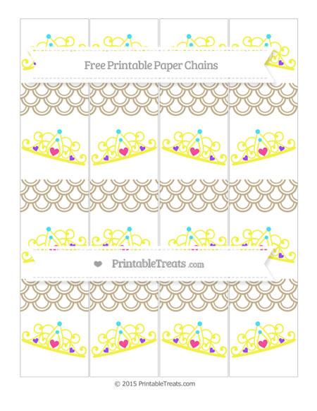 Free Khaki Fish Scale Pattern Princess Tiara Paper Chains