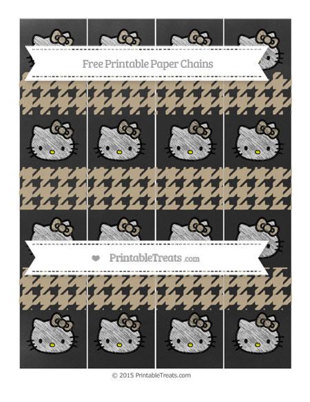 Free Khaki Houndstooth Pattern Chalk Style Hello Kitty Paper Chains
